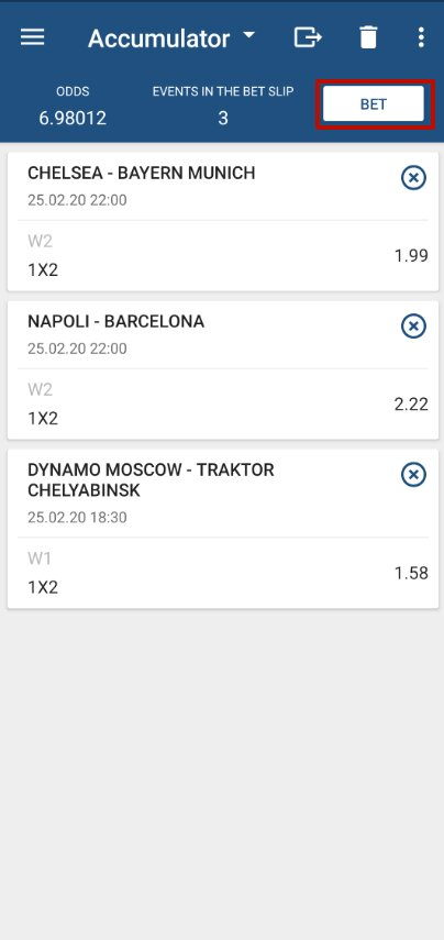 1xbet accumulator bet 9